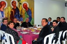 Cena con el Obispo D. Rafael tras la primera Eucaristía (23/10/2016)
