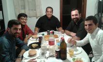 Cena en la casa del rector, el P. Luis González (22/10/2016)