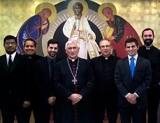 El Seminario completo con el Obispo D. Rafael tras la primera Eucaristía del Seminario (23/10/2016)