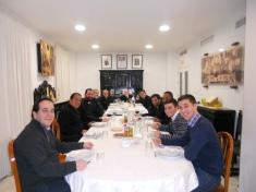 Cena en el Seminario Redemptoris Mater de Sevilla