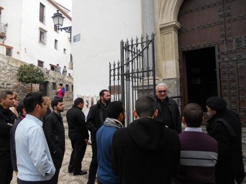 Con Mariano Catarecha, rector del Redemptoris Mater de Granada